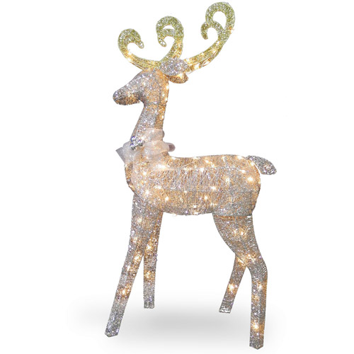 "National Tree 60"" Crystal Standing Deer"