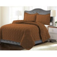 Tribeca Living Lyon Solid Oversized Quilt Set Queen Sage Green
