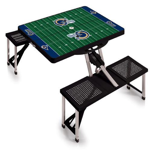 Picnic Time Picnic Table Sport, Black Denver Broncos Digital Print