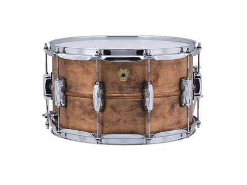 """Ludwig Copper Phonic Raw Patina Snare Drum 8""""x14"""" by"""