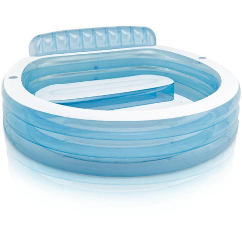 Intex Inflatable Swim Center Family Lounge Pool with Built-In Bench
