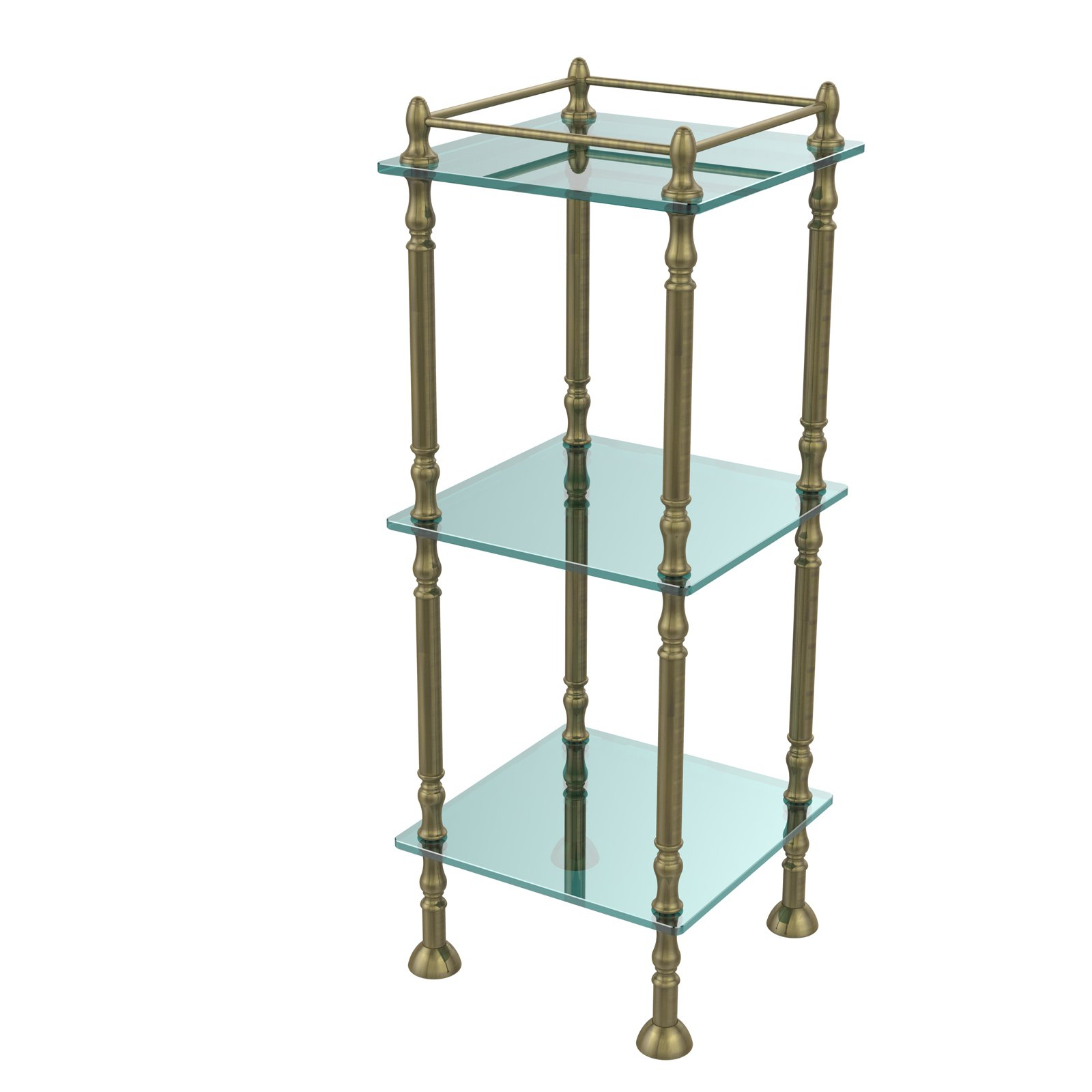 Three Tier Etagere with 14 Inch x 14 Inch Shelves by Avondale Décor