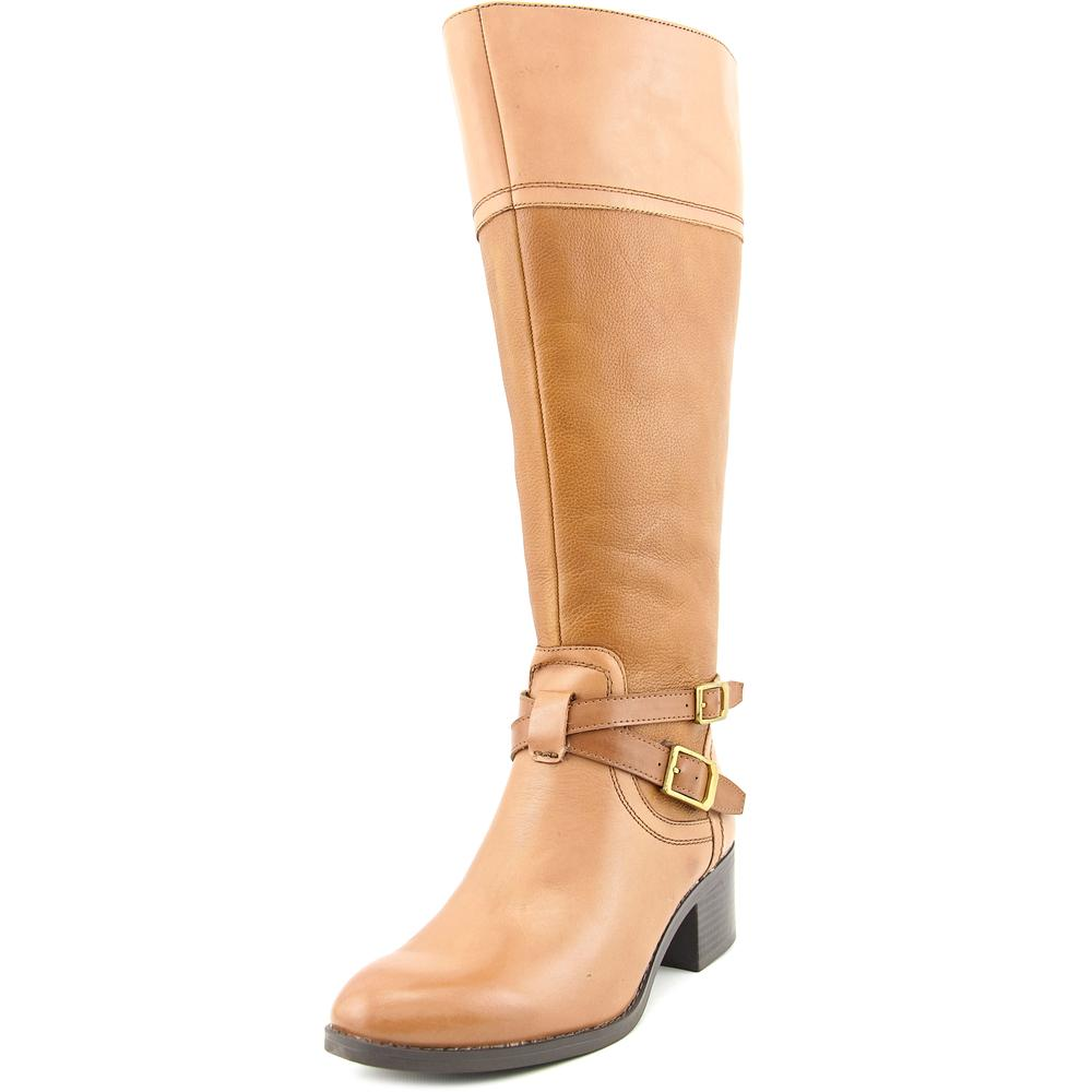 Franco Sarto Lapis Wide Calf Women Round Toe Leather Brown Knee High Boot by Franco Sarto