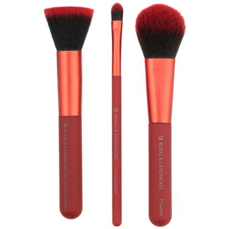 Moda™ Complexion Perfection Professional Makeup Brush Set 4 pc Pack (Moda Sage)