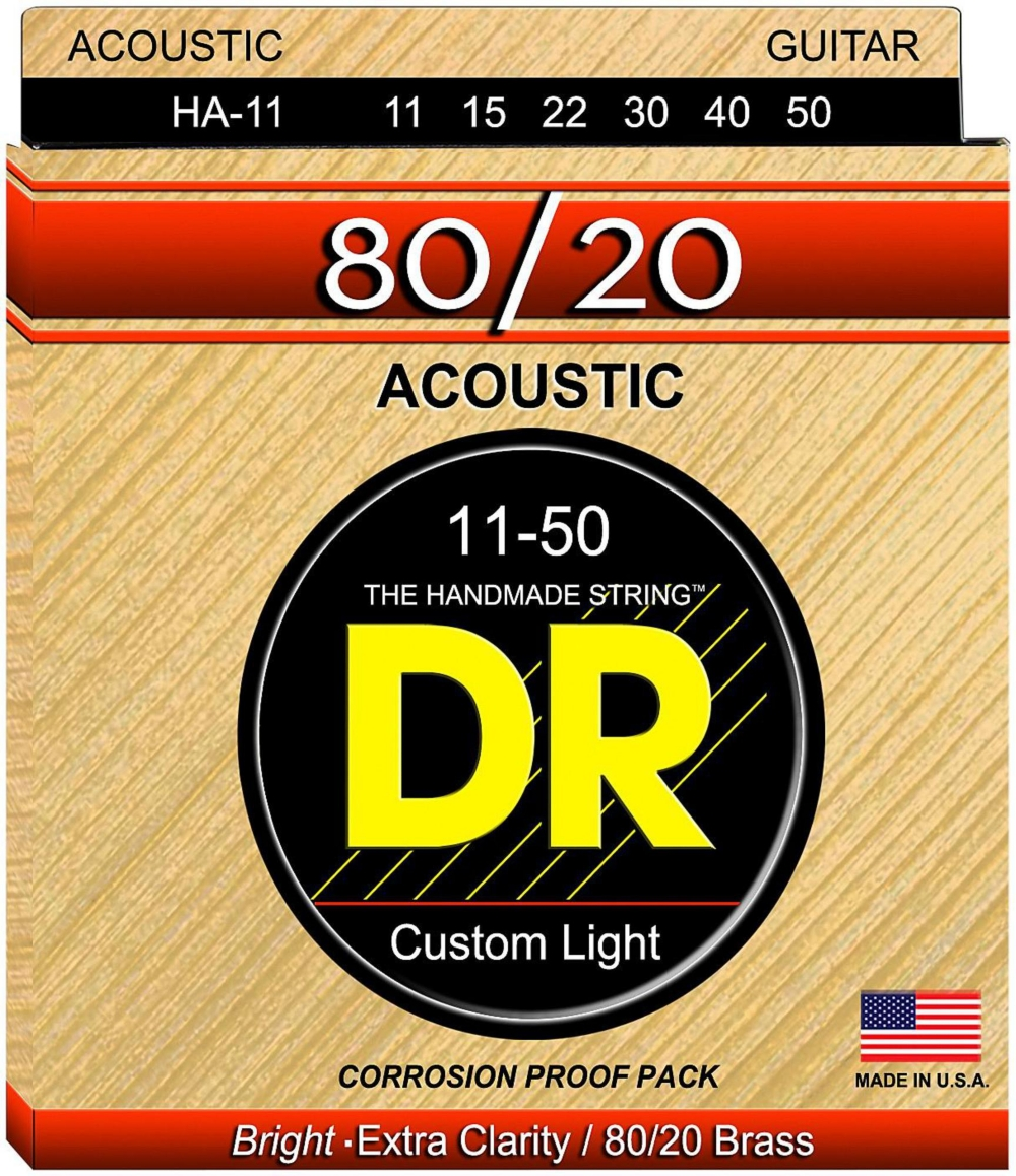 DR Strings Hi-Beam 80 20 Medium Lite Acoustic Guitar Strings by DR Strings