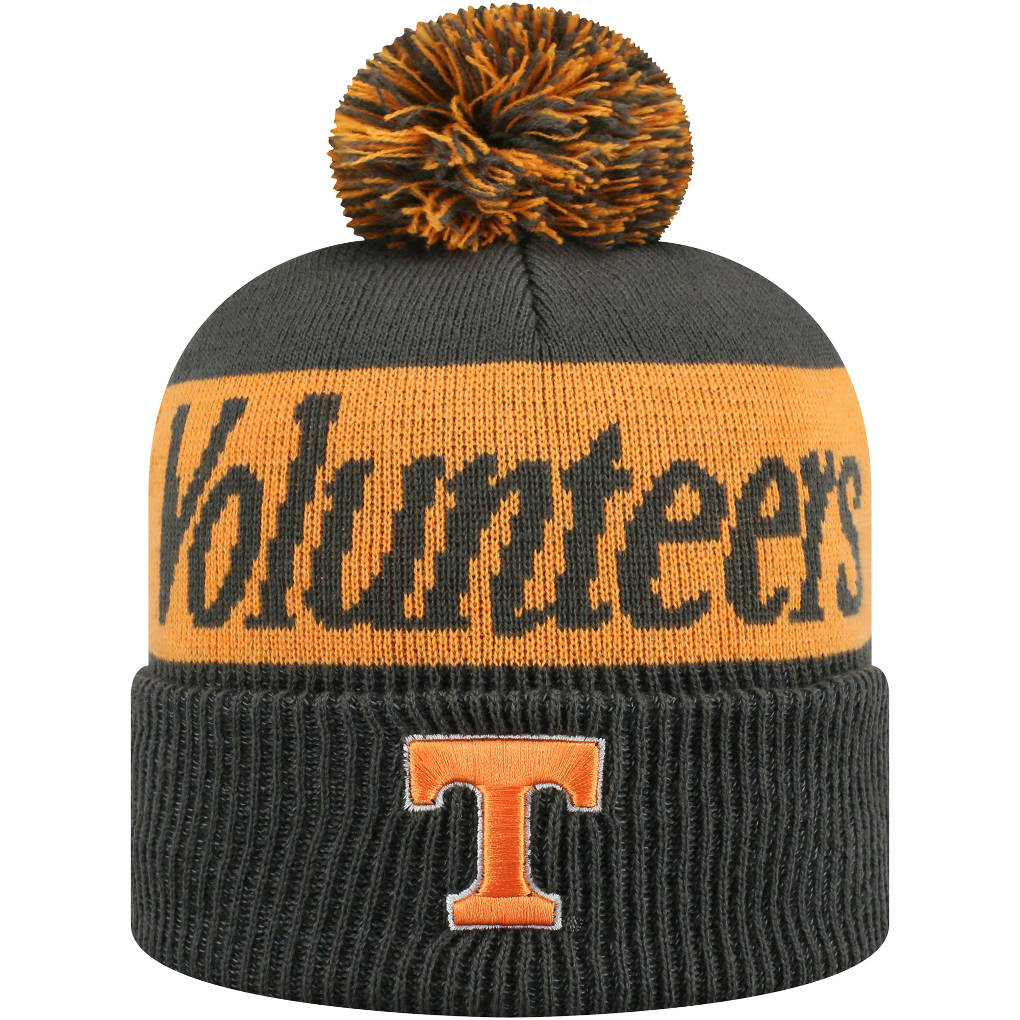 Women's Russell Charcoal/Tennessee Orange Tennessee Volunteers Frore Cuffed Knit Hat With Pom - OSFA