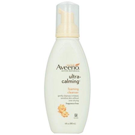 Calming Foam Cleanser - 2 Pack - AVEENO Active Naturals Ultra-Calming Foaming Cleanser 6 oz Each