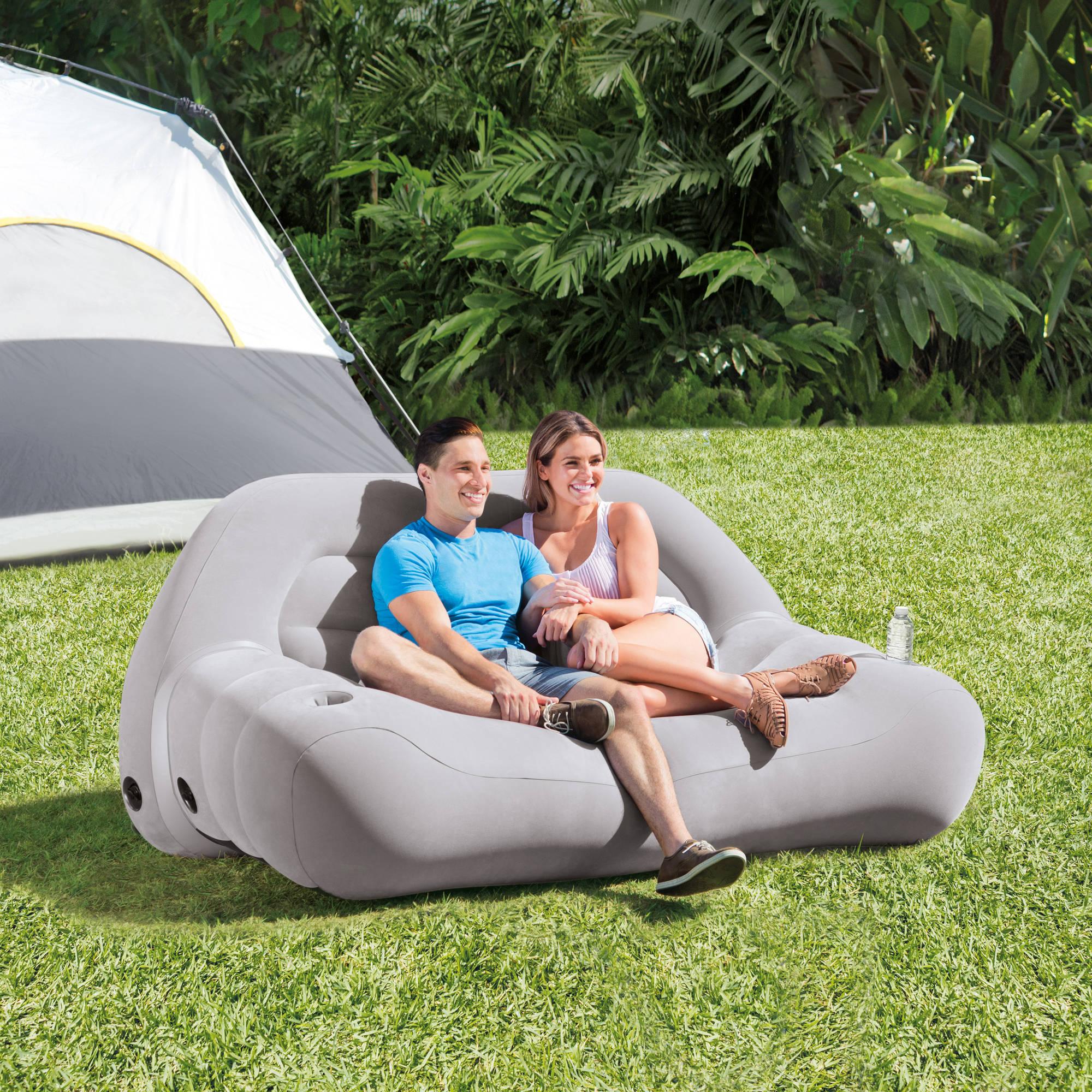"Intex Inflatable Camping Sofa, 75"" x 37"" x 34"""