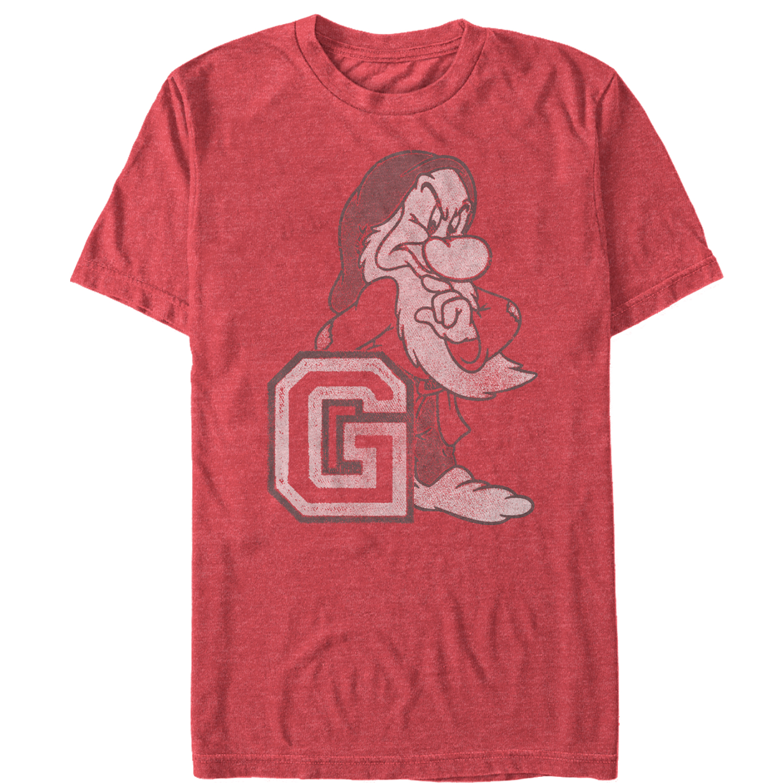 Snow White and the Seven Dwarves Men's Athletic Grumpy T-Shirt
