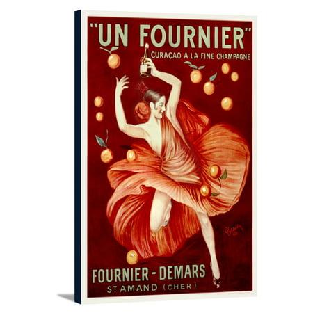 - Fournier - Demars - Un Fournier Vintage Poster (artist: Cappiello, Leonetto) France c. 1921 (12x18 Gallery Wrapped Stretched Canvas)