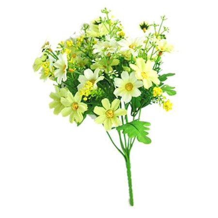 KABOER 1 Bouquet 28 Heads Fake Daisy Chrysanthemum Artificial Flower Decor 2019,2 Pcs - Jewel Daisy Bouquet