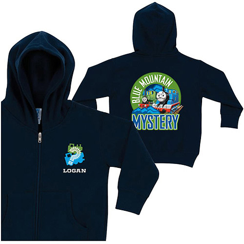 Personalized Thomas Blue Mountain Mystery Boys' Zip-Up Hoodie