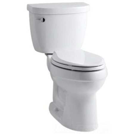 Kohler K-3589-0 Cimarron Comfort Height Elongated Two-Piece Toilet in White