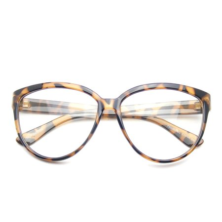 Emblem Eyewear - Womens Oversize Retro Nerd Clear Lens Fashion Cat Eye Geek Glasses - image 3 de 3