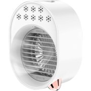 Personal Air Cooler 500mL Mini Space Cooler with Misting Desktop Air Conditioning Fan with 3 Wind Speeds Colorful USB Powered Quiet Air Cooler Cooling Fan for Home Room Office