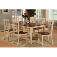 7 Piece Dining Room Set-Dining Table With Leaf and 6 Kitchen Dining Chairs