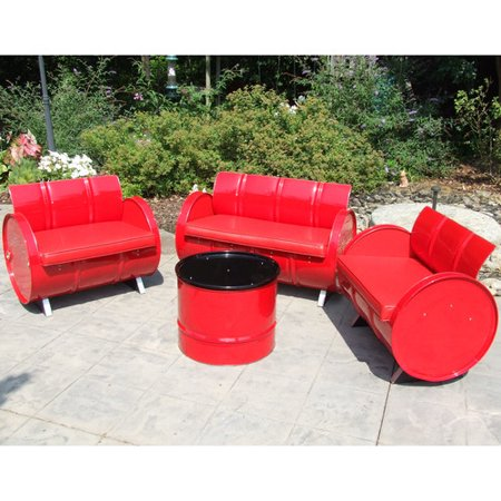 Drum Works Very Red Seating Cushion