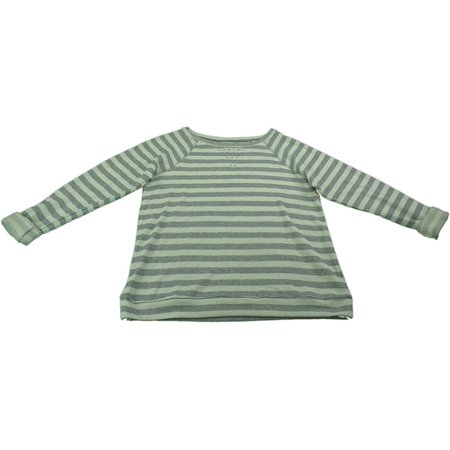 Ellen Tracy Company Womens Size Large Embellished Sweatshirt, Grey Stripe