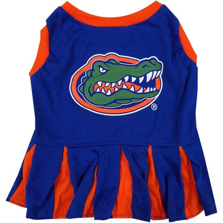 Pets First College Florida Gators Cheerleader, 3 Sizes Pet Dress Available. Licensed Dog Outfit](Dog Cheerleader Outfit)