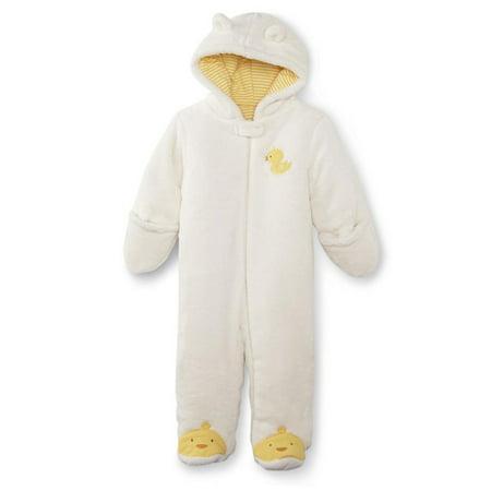 Infant Boys & Girls Ivory Yellow Duckling Bunting Plush Baby Pram](Infant Girl Bunting)