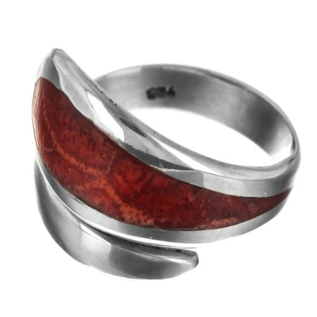 Handmade Red Coral 925 Sterling Silver Ring