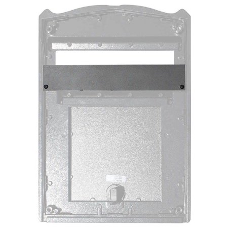 Leather Mail Plate - High Security Plate for Mailboxes