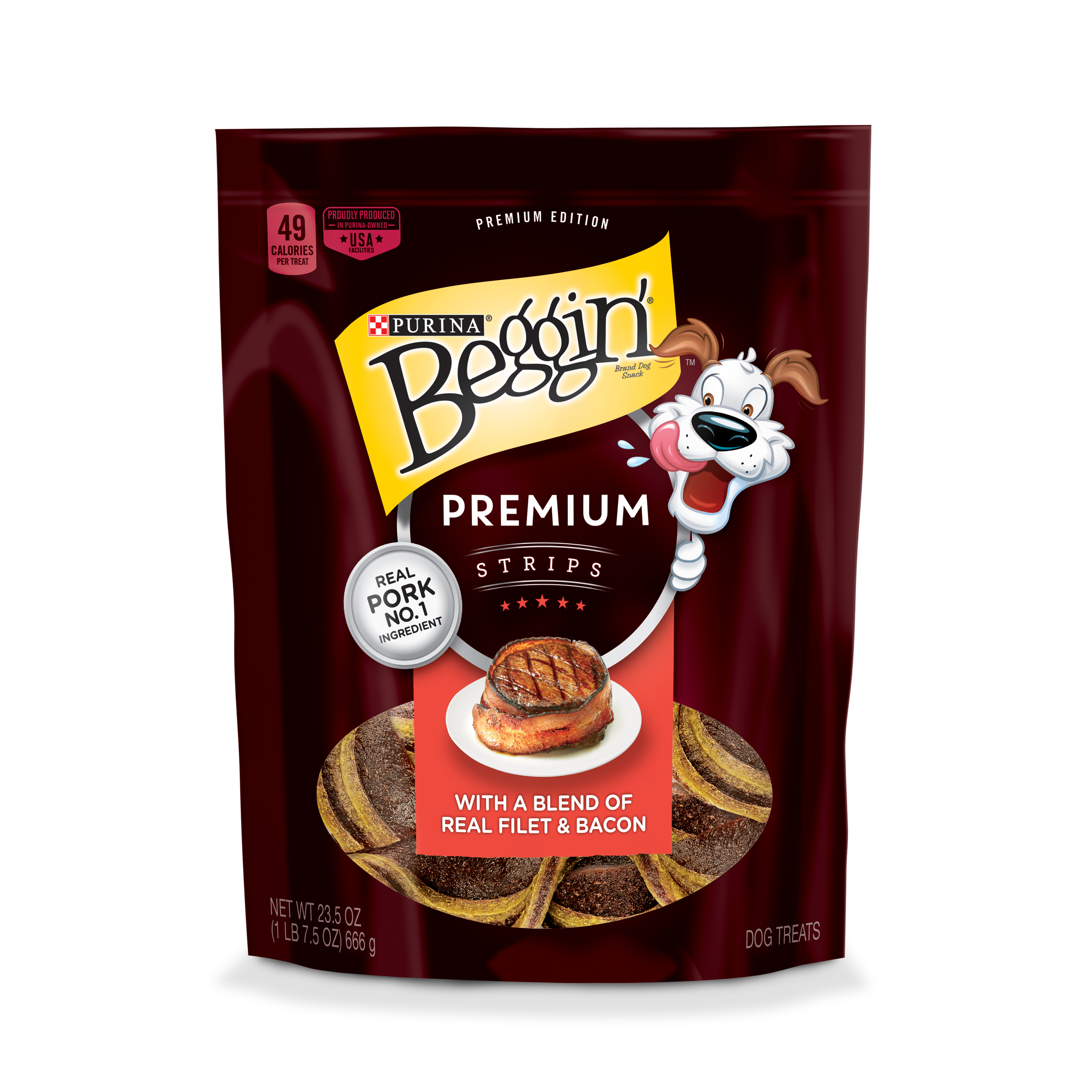 Purina Beggin' Premium Strips Real Pork Dog Treats - 23.5 oz. Pouch