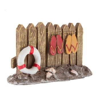 Fence with Flip Flops Miniature Resin Cake Topper Decoration Beach Luau Theme (Carnival Themed Cake)