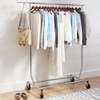 Better Homes & Gardens Folding Adjustable Garment Rack, Chrome