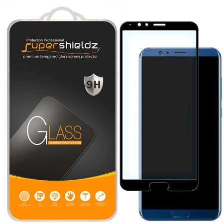 [2-Pack] Supershieldz for Huawei Honor View 10  [Full Screen Coverage] Tempered Glass Screen Protector, Anti-Scratch, Anti-Fingerprint, Bubble Free (Black Frame)