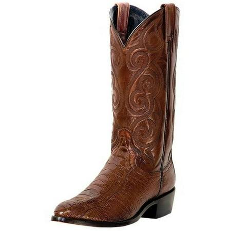 Dan Post Western Boots Mens Bellevue Ostrich Leg Antique Tan (Dan Post Ostrich Boots)