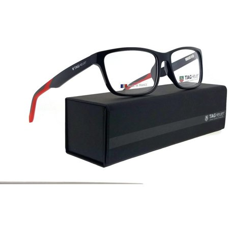 Tag Heuer B-Urban-0553-006-57 Rectangle Unisex Black Frame Clear Lens Eyeglasses
