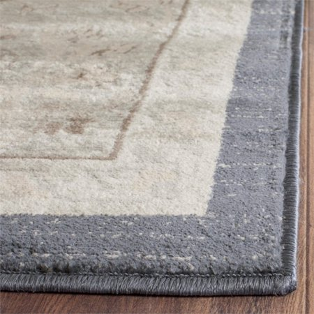 "Safavieh Vintage 5'1"" X 7'7"" Power Loomed Rug in Dark Gray and Cream - image 1 of 5"