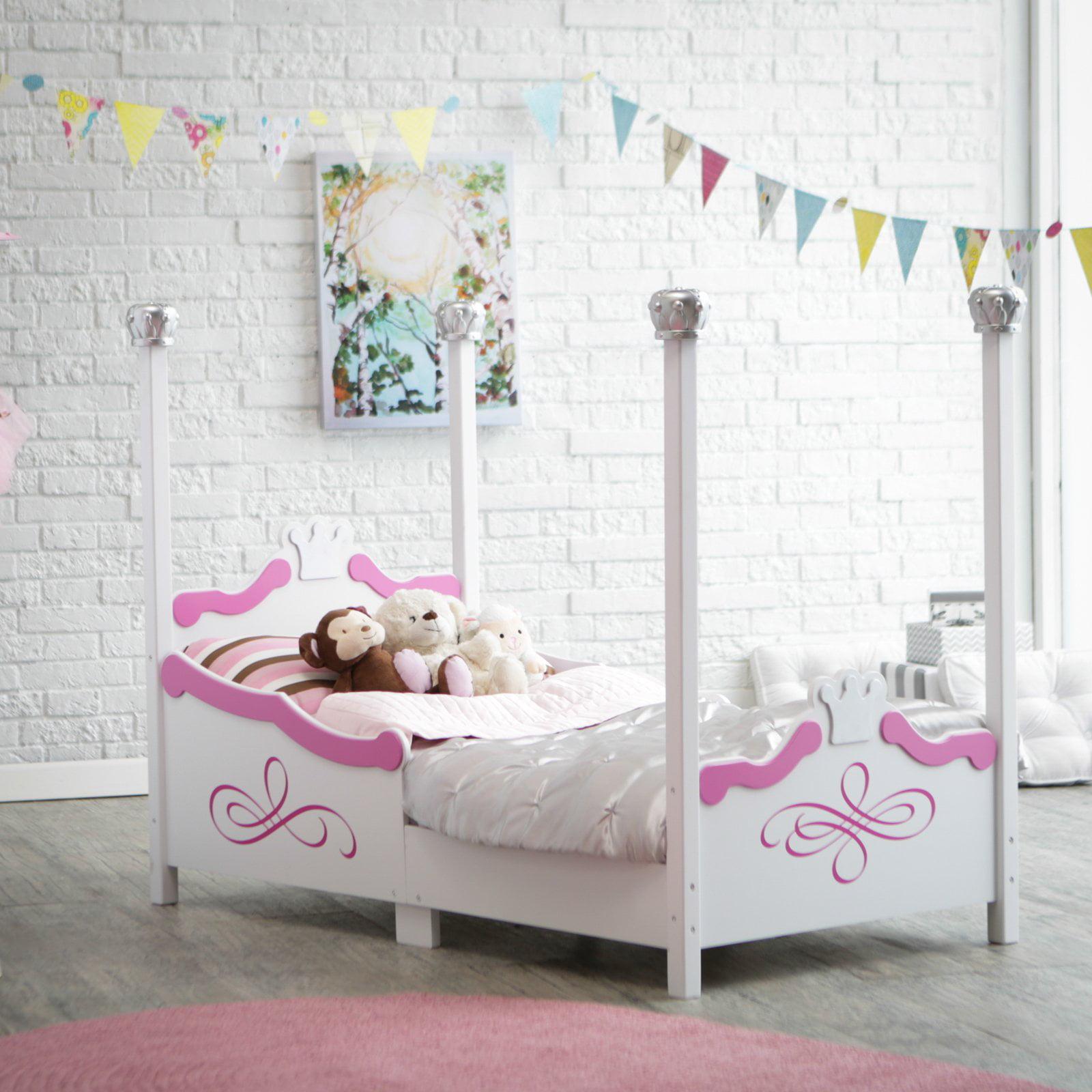 Kidkraft Princess Toddler Bed - Silver - 86945