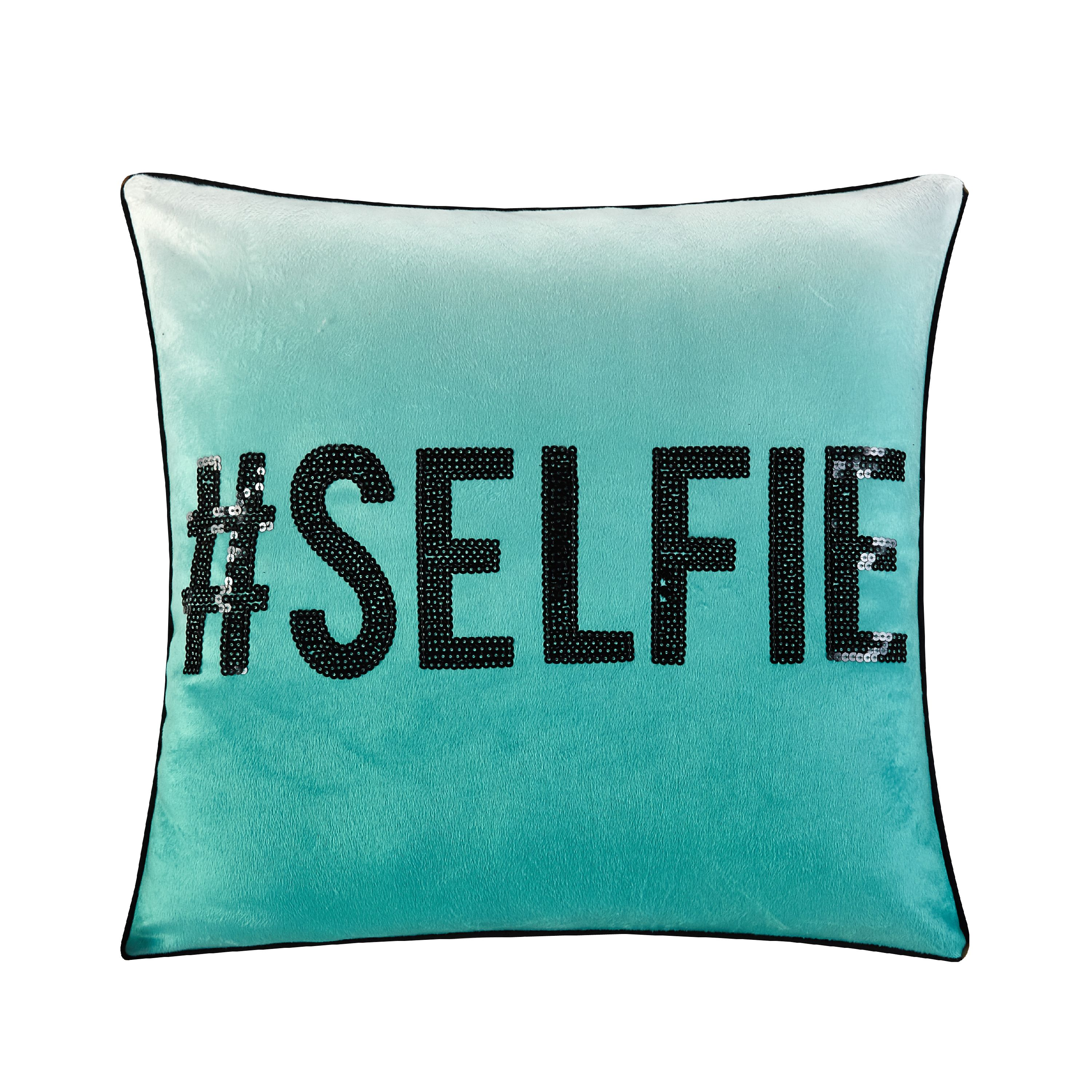 Your Zone # Selfie Sequin Decorative Pillow