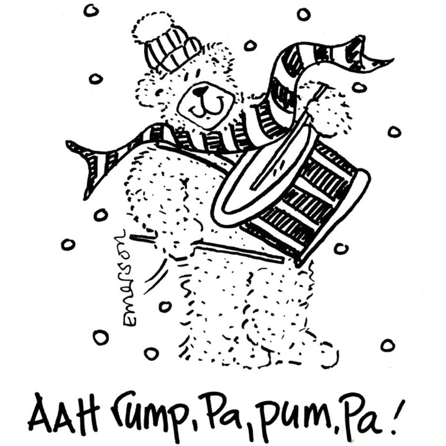 Gourmet Rubber Stamps Cling Stamps 3 X 2 25 Aah Rump Pa Pum