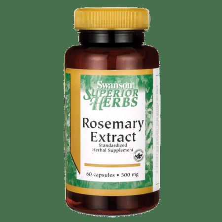- Swanson Rosemary Extract 500 mg 60 Caps