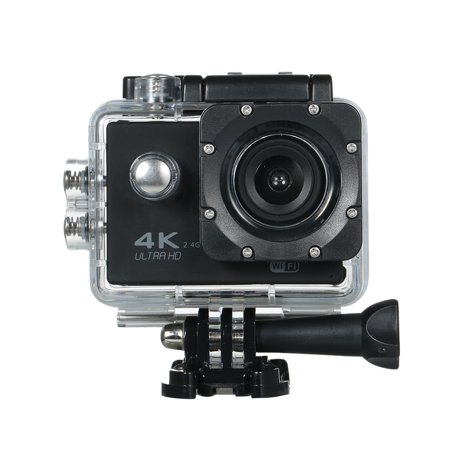 Action Camera 4K 16M WiFi Sports Camera 170° Wide Angle Underwater 30M Waterproof Sports Camcorder with 2