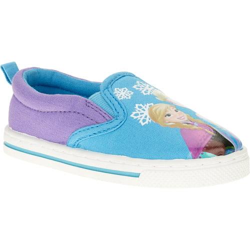 disney frozen and elsa slip on canvas sneakers