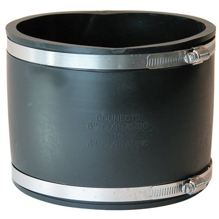 FERNCO 1056-66 Flexible Coupling,For Pipe Size 6