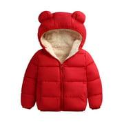 Winter Infant Kids Baby Girls Boys Coat 3D Ears Hooded Long Sleeve Warm Outfits