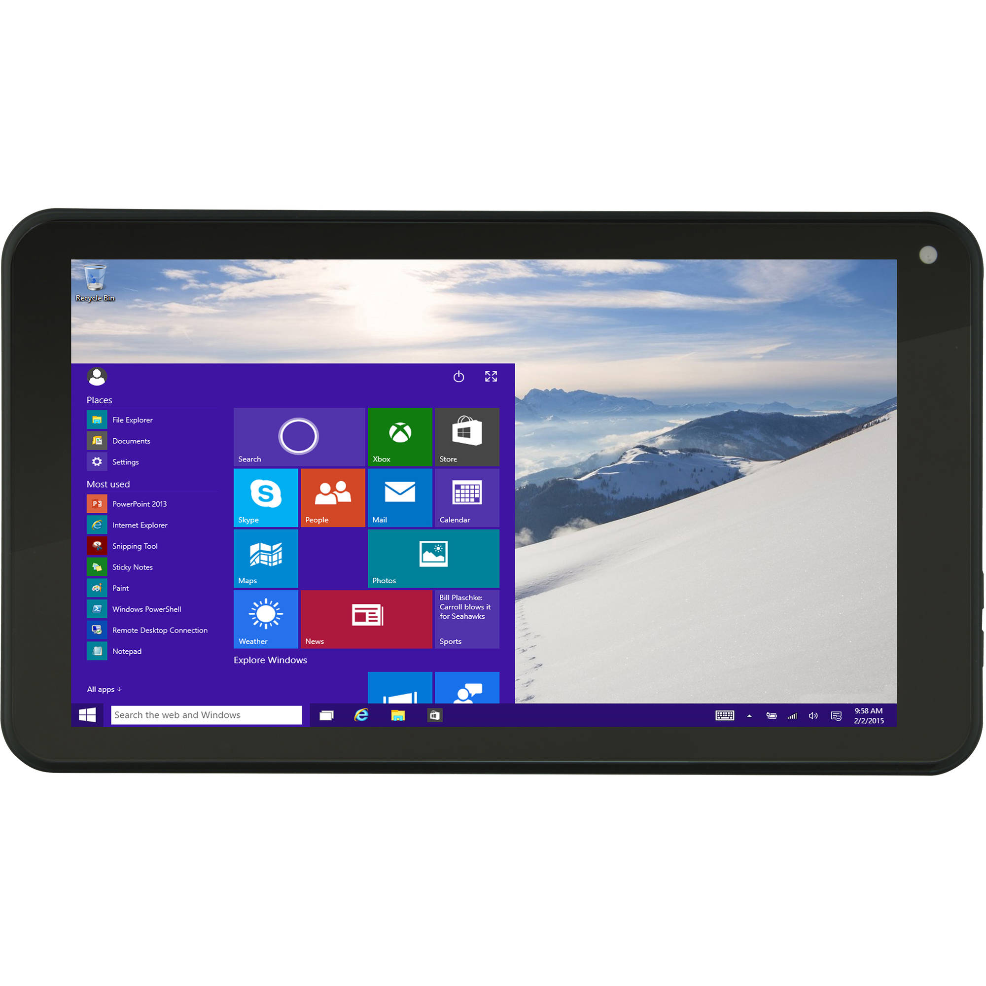 "Vulcan Journey 7"" Tablet 16GB Intel Atom Z3735G Quad-Core Processor Windows 10 Operating System"