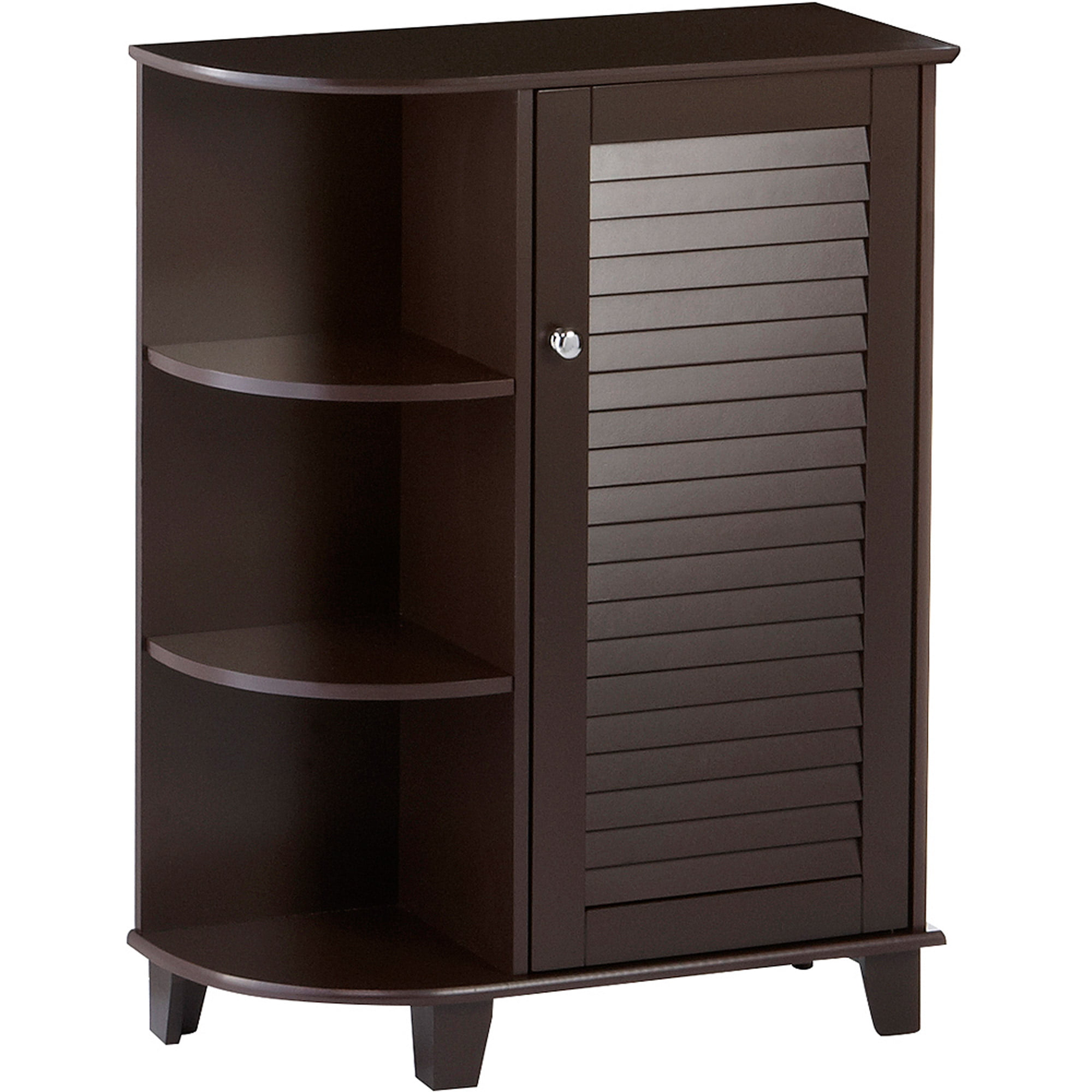RiverRidge Ellsworth Floor Cabinet with Side Shelves, Espresso ...
