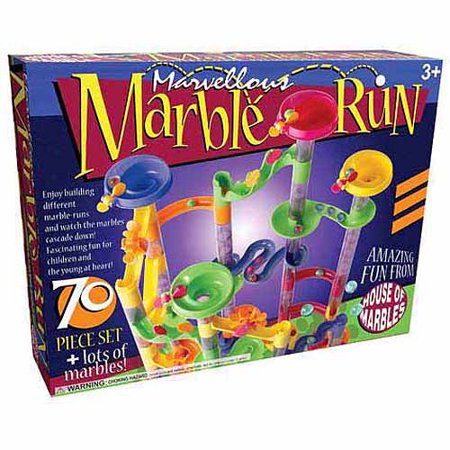 Marvellous Marble Run 70-Piece Set (Marble Toy Set)