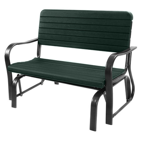 Costway Outdoor Patio Swing Porch Rocker Glider Bench Loveseat Garden Seat Steel - Glider Outdoor Bench