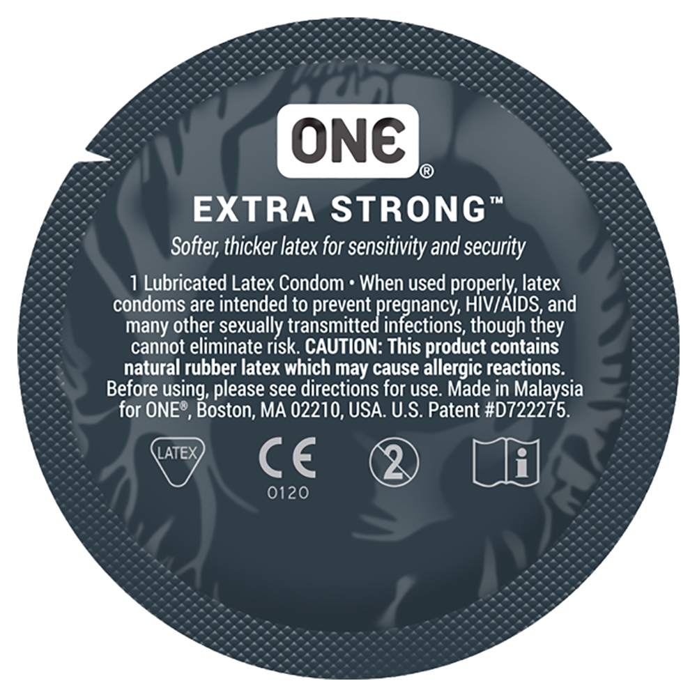 ONE Extra Strong + Brass Pocket Case, Thicker Lubricated Extra Strength Latex Condoms 24 Count