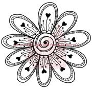 """Woodware Clear Stamps 3.5""""X3.5"""" Sheet-Flower Head Fiona"""