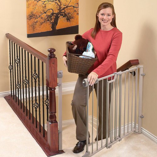 "Evenflo Secure Step Top of Stairs Metal Gate, 29""-42"