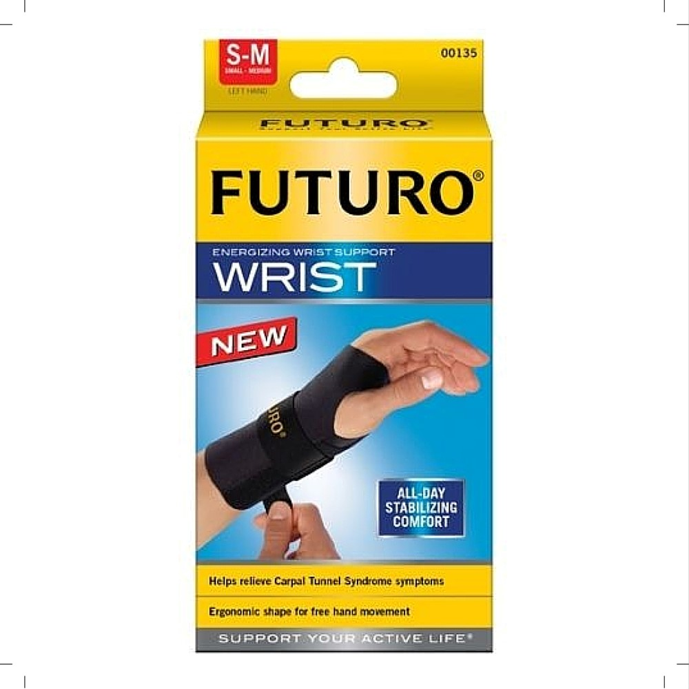 FUTURO Energizing Wrist Support Left Hand, Small/Medium 1 ea (Pack of 3)