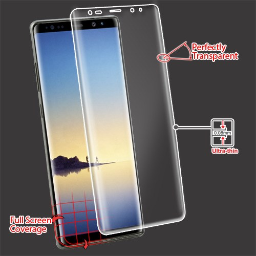 For Samsung Galaxy Note 8 Clear Curved Coverage Screen Protector Film